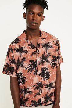 facf6ba7 Slide View: 1: Loom Hawaiian Pink Shirt Urban Outfitters Men, Luxury  Branding,