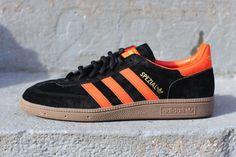 adidas Originals Spezial-Black-Metallic Gold-Collegiate Orange #sneakers #kicks