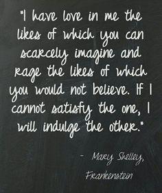 Gothic Literature ~ Mary Shelley, Frankenstein