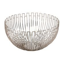 """Geometric Wire Bowl from Ethan Allen / Reg $249 sale $199.20 / 17""""Dia x 9""""H / brass with polished nickel finish / not food safe"""