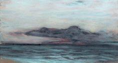Claude MONET (1840-1926)  Nuage sur la mer Pastel sur papier. (retouches) 12 x 22,5 cm Reproduit et répertorié dans le catalogue raisonné de l'oeuvre de l'artiste par Monsieur Daniel Wildenstein sous… - Lombrail-Teucquam - 28/11/2014