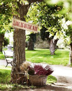 Carteles de madera para bodas -
