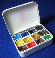 The Art Of Zan Barrage: Home Made Watercolour Bijou Box