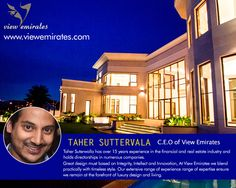 "Taher Suterwalla : ""If opportunuty doesn't knock, build a door"""