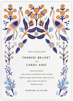Elegant Garden  |   Wedding Invitation