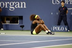 Serena Williams (USA)[4] celebrates after defeating Victoria Azarenka (BLR)[1] in the final of the 2012 US Open. - Philip Hall/USTA