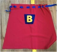 Play Eat Grow: Play: DIY No Sew Superhero Capes...hmmm...never thought of a tie...I bought velcro anyway :)