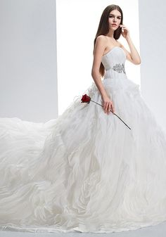 Organza Ball Gown Wedding Dress