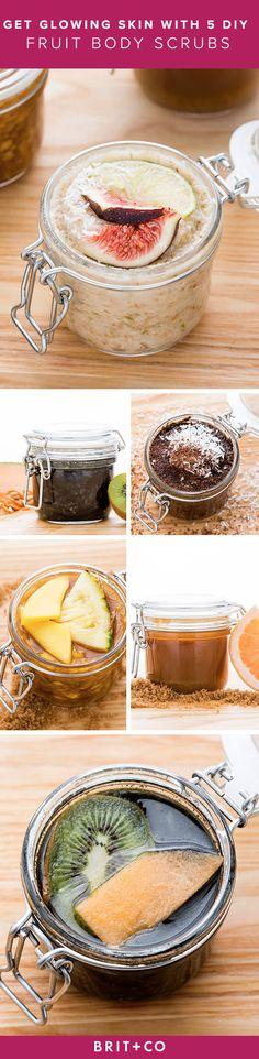 Use summer fruit to make 5 DIY body scrubs for glowing skin.