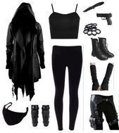 Maybe without the gun! Maybe without the gun! Cute Emo Outfits, Bad Girl Outfits, Punk Outfits, Teenage Outfits, Teen Fashion Outfits, Grunge Outfits, Pretty Outfits, Batman Outfits, Punk Fashion