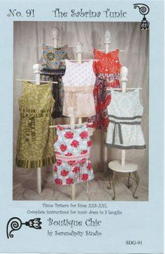 The Sabrina Tunic Sewing Pattern Boutique Chic by Serendipity Studio XXS-XXL