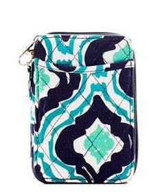 Quilted Wristlet Wallet IKAT Print