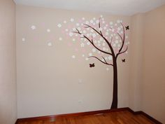 decoracion de dormitorios infantiles con murales pintados a mano