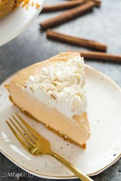 This No Bake Pumpkin Cheesecake is so easy, smooth and silky -- the perfect easy dessert for a fall supper or Thanksgiving! Step by step recipe VIDEO