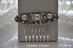 Bridal Hair Comb,Wedding Pearl Hair Comb,Vintage Style Pearl Hair Comb