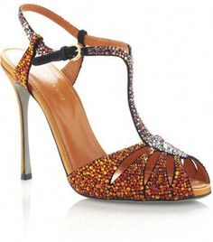 1a2a12c1 Sergio Rossi ~ Ss Paprika Murmask Evening Sandal Bridal Heels, Crystal  Shoes, Orange High