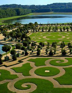 Orangerie gardens, Versailles, France.