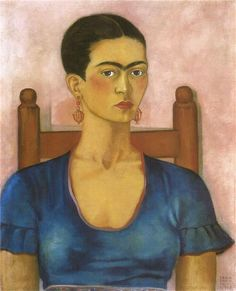 Self Portrait, 1930 by Frida Kahlo. Naïve Art (Primitivism). self-portrait. Private Collection Boston, Mass., USA