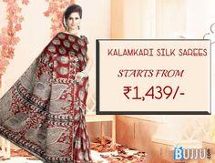 Maroon Buddha Designer Silk Kalamkari Saree & Blouse Product code: SHSA90K159 Retail price: 1520/-  Sale price : 1439/-
