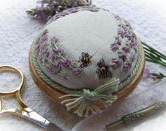 Pp4 lavanda y patrón de punteado de las abejas y Kit de impresión (seda de dupion verde)