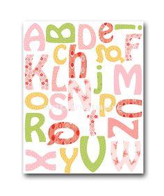 Alphabet Nursery Alphabet Baby Girl Nursery art by artbynataera, $14.00