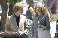 Gabriel Mann and Emily VanCamp as Nolan Ross and Emily Thorne on Revenge - I must have that shirt she's wearing.