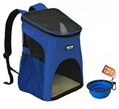 KritterWorld Pet Carrier Backpack for Small Dogs, Puppies, Cats Collapsible Dog Bowl, Flea Treatment, Cat Carrier, Hiking Backpack, Travel Backpack, Dog Care, Dog Toys, Small Dogs, Best Dogs