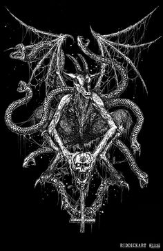 Death Metal Illustrations by Mark Riddick | Abduzeedo Design Inspiration & Tutorials