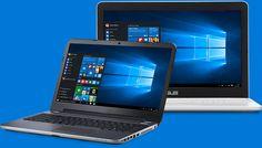 Dos equipos portátiles con Windows 10 en la pantalla