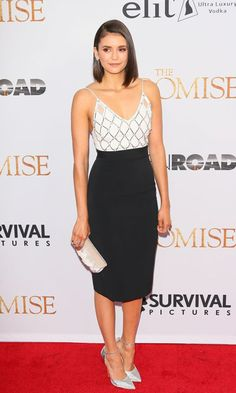 Nina Dobrev sparkled at the premiere of The Promise at the TCL Chinese Theatre in Hollywood.