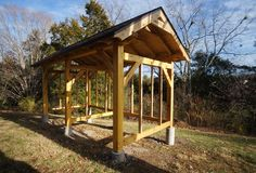 8x16 timber frame wood shed