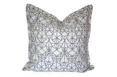 Grey Diamond Scatter Cushion by Elle Kay Fabrics