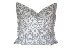Grey Diamond Scatter Cushion by Elle Kay Fabrics