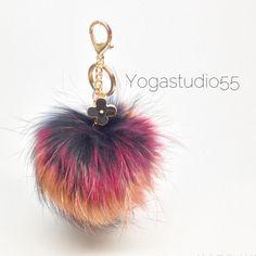 Fur Pom Pom Keychain Bag Charm Creative Studio