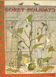 Edward Gorey Christmas cards