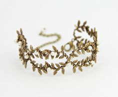 Wedding Bracelet  Bridal Bracelet Antique by LavenderByJurgita, $87.00