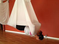 favorite aerial yoga pose - Vampire