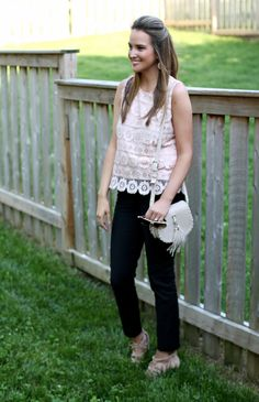 How To Style Blush Lace - Lex What Wear #fashionblogger #styleblogger #summerstyle #summeroutfitideas #summertrends #lookoftheday #ootd #outfitinspiration #outfitideas #blush #lace