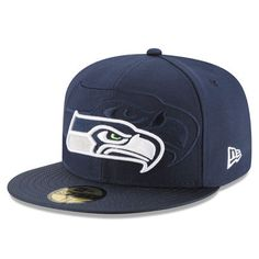 Seattle Seahawks New Era Youth 2016 Sideline Official 59FIFTY Fitted Hat -  Navy 0d5172679a9