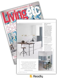 Suggestion about Livingetc Magazine Jul 2017 page 126 Sawn Timber, Breakfast Bars, House And Home Magazine, Kitchens, Interior, Modern, Furniture, Design, Home Decor