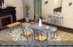 Sims 4 CC's - The Best: Paris Dining Set by Hellen
