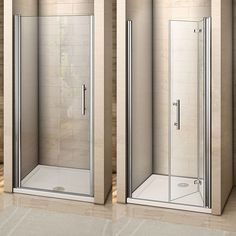 Unique pivot hinge system,pass pull and push test, run more smoothly & quietly. Door has got rise and fall function as the picture showed. Bifold Shower Door, Frameless Shower Doors, Glass Shower Doors, Glass Doors, Bathroom Renos, Diy Bathroom Decor, Bathroom Interior, Small Shower Room, Small Bathroom