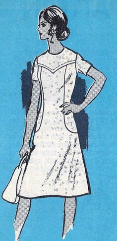 1970s Plus Size A Line Dress Vintage Sewing Pattern, Marian Martin Mail Order Pattern 9373 bust 43