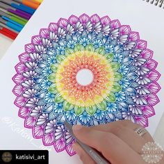 Mandala Art Lesson, Mandala Drawing, Galaxy Wallpaper Quotes, Art Abstrait Ligne, Design Mandala, Mandala Canvas, Abstract Line Art, Marker Art, Doodle Art
