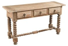 """Cole Console, Weathered Natural 