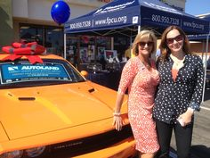 The Autoland team is out in full force today in Huntington Beach for the latest branch opening of Financial Partners Credit Union. The fun lasts until 6pm...stop by and check out the 2014 Header Orange #Dodge #Challenger!