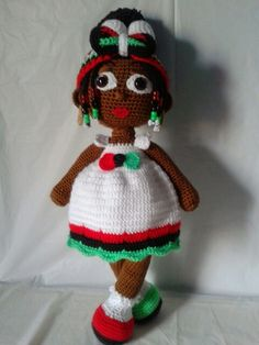beads, breaids, and removable headband! Crochet Crafts, Crochet Dolls, Sock Toys, African American Dolls, Brown Girl, Beautiful Crochet, Doll Accessories, Black History, Afro