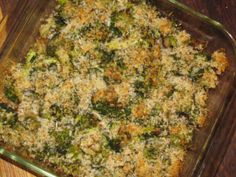 SKINNY SIDES: Broccoli Potato Casserole with Parmesan Panko Crust ONLY 137 Calories