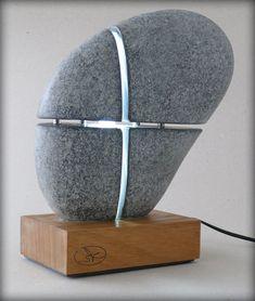 Site WoodWorking My Site Life - Just another wellmodels site Rock Sculpture, Concrete Sculpture, Concrete Lamp, Abstract Sculpture, Rock Lamp, Luminaire Original, Edison Lampe, Stone Statues, Plastic Art