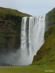 Skogafoss, one of the prettiest waterfalls in Iceland #iceland #travel #nature